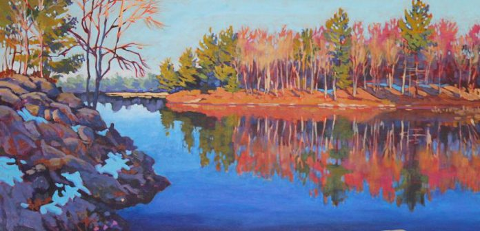 "The Buckhorn Fine Art Festival will feature work from several of Canada's best landscape artists, including Barb Sohn. Pictured is a painting (24"" x 48"" on gallery wrap canvas) from Sohn's Black Creek Series. (Photo: Barb Sohn)"