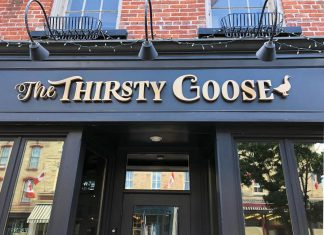 Local restaurant entrepreneurs Rejean Maranda and Cameron Green, owners and operators of Kettle Drums and McThirsty's Pub in Peterborough, have officially opened their latest venture: The Thirsty Goose pub and restaurant in downtown Port Hope. (Photo: The Thirsty Goose)