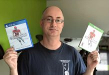 David A. Winter, president of Peterborough-based video game studio Canuck Play, with Maximum Football 2018, which has been certified for and officially released on both the PS4 and Xbox One video game platforms. (Photo courtesy of the Innovation Cluster)