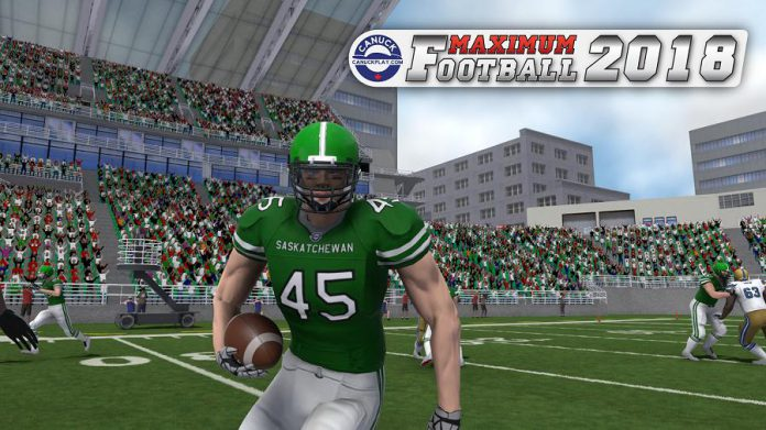 A screenshot from Maximum Football 2018, which is now available for PS4 and Xbox One. (Photo courtesy of the Innovation Cluster)