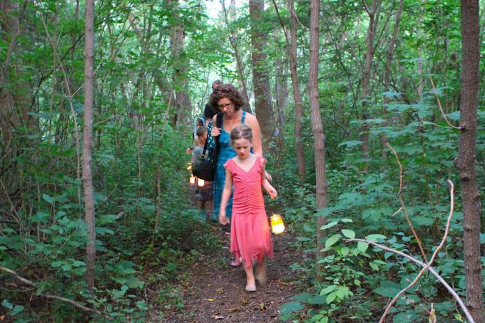 A highlight of every Ecology Park Family Night is the Lantern Walk, where participants can make their very own lantern and follow through the Ecology Park trails to music led by the Paddling Puppeteer. This year's event, sponsored by Healthy Kids Community Challeng, takes place on Thursday, August 23rd at Ecology Park, 1899 Ashburnham Drive in Peterborough. (Photo: Karen Halley)