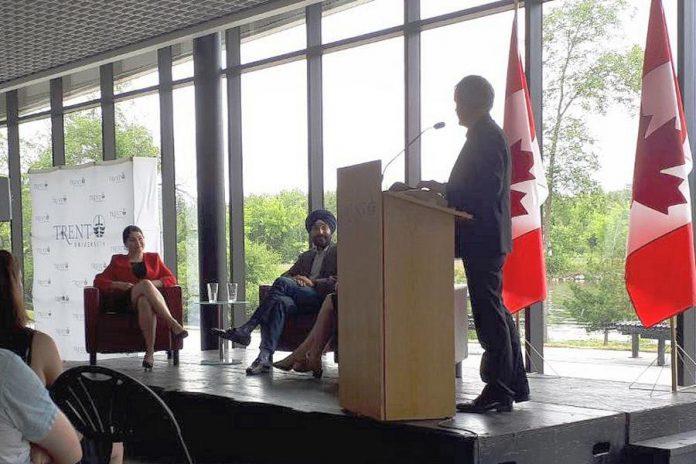 Minister Bains at Trent University