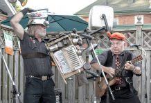 Washboard Hank and Reverend Ken reprise their musical novelty act from the 1970s and their musical collaboration in Reverend Ken and The Lost Followers at The Garnet in downtown Peterborough on Wednesday, August 22nd. (Photo via The Garnet / Facebook)