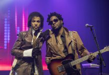 Chris Rouse as Prince with Sean Alexander, co-founder of tribute band The Funk Frequency, which performs a free concert at Peterborough Musicfest at Del Crary Park on Saturday, August 4, 2018. (Publicity photo)