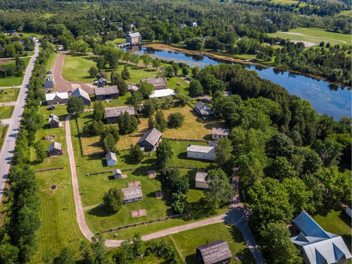 Lang Pioneer Village Museum features more than 30 restored and furnished buildings representing the life and trades of a settler in the 1800s, including a fully operational grist mill, weaver shop, blacksmith shop, and many more.