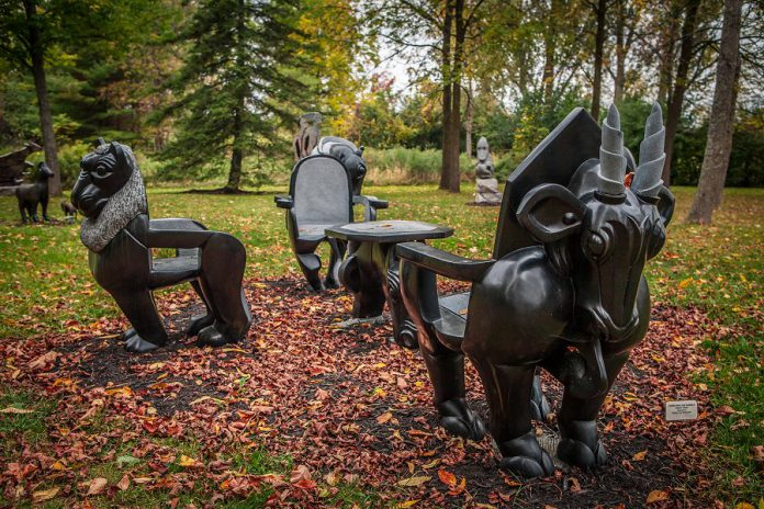 Visitors can explore the more than 300 sculptures at their own pace, meet with the visiting Zimbabwean artist, and learn about this internationally acclaimed art movement and the Zimbabwean artists represented by ZimArt. All of the artwork is available for sale.
