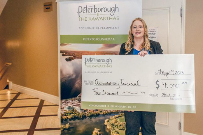 Christine recently participated in the Starter Company Plus program administered by the Peterborough & the Kawarthas Economic Development Business Advisory Centre. The detailed business plan she created in the program secured her a grant that she used to help hire a staff person to meet the growing demands of her business. (Photo: Peterborough & the Kawarthas Economic Development)