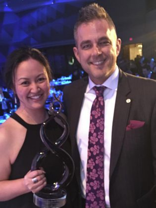 Grace Reynolds with Jason Kay, her mortgage broker partner and mentor at Northwood Mortgage Ltd.  (Supplied photo)
