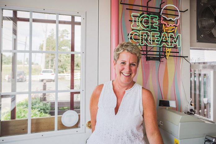Jenn Scates, Vice President/Marketing at Central Smith Creamery, has helped lead the Peterborough-area dairy to become a successful nation-wide distributor of ice cream, sherbert, sorbet, frozen yogurt, frozen desserts, and more. (Photo: Heather Doughty)