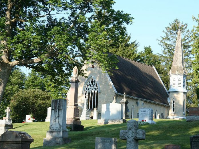 The chapel at the historic Little Lake Cemetery in Peterborough. (Supplied photo)