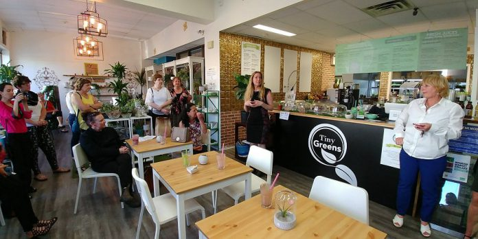 Hosting a Business Spotlight, like this one at Tiny Greens Plant Cafe, is a fun and casual way to introduce fellow members to your business. (Photo: WBN)