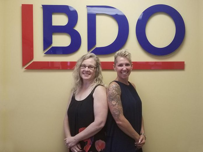 Shelley Barker (left) with co-worker Lisa Hunter of BDO First Call Debt Solutions, which has been helping Canadians find the best solution for their individual needs since 1958. (Supplied photo)