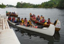 "A mix of First Nations and non-native youth participated in this year's ""Adventure In Understanding"" canoe trip from August 26 to 31, 2018. The annual program was developed by the Rotary Club of Peterborough Kawartha in partnership with the Canadian Canoe Museum, Camp Kawartha, and Curve Lake First Nation. (Photo: Rotary Club of Peterborough Kawartha)"