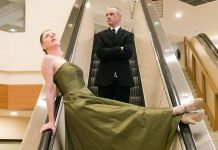 "Ryan Kerr and Kate Story are two of the performers in ""Sorry about what happened at the mall"", a contemporary dance work set inside Peterborough Square on the escalators and lower hallway. It's one of more than 40 events reflecting the theme 'Art In Unexpected Places' of Artsweek 2018, which runs from September 21 to 30 at various locations in Peterborough. (Photo: Andy Carroll)"