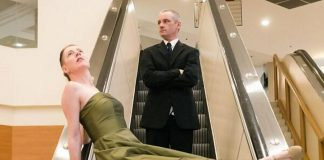"""Ryan Kerr and Kate Story are two of the performers in """"Sorry about what happened at the mall"""", a contemporary dance work set inside Peterborough Square on the escalators and lower hallway. It's one of more than 40 events reflecting the theme 'Art In Unexpected Places' of Artsweek 2018, which runs from September 21 to 30 at various locations in Peterborough. (Photo: Andy Carroll)"""