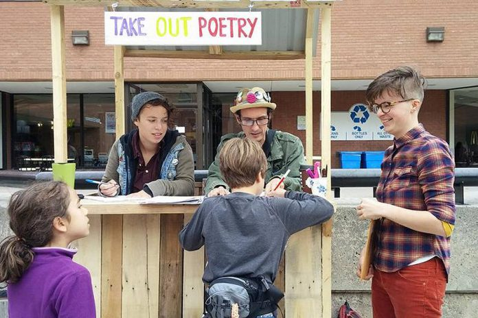 Take-Out Poetry Cart