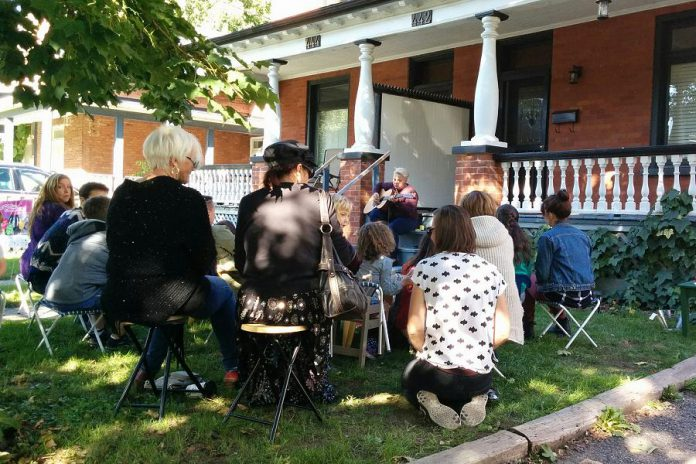 Porchapalooza is a series of concerts featuring local musicians that take place on the front porches of residential homes in in East City and the Old West End Avenues.