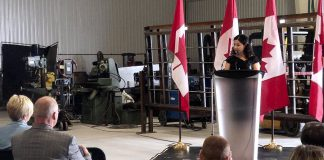 On September 6, 2018, Peterborough-Kawartha MP and Minister of Status of Women was at the new Steelworks Design facility on Fisher Drive in Peterborough to announce $498,000 in federal funding for the Canadian Manufacturers & Exporters (CME) to implement a three-year project aiming at attracting and inspiring more women and youth to pursue a career in manufacturing. (Photo: Office of Minister of Status of Women)