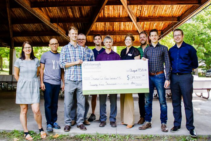 Some of the local entrepreneurs who received $29,000 in funding as part of the second 2018 intake of Starter Company Plus, a program funded by the Government of Ontario and administered by Peterborough & the Kawarthas Economic Development. Applications are now open for third intake for the program in September 2018, with orientation sessions taking place on September 4th, September 10th, September 17th, and September 24th. (Photo: Peterborough & the Kawarthas Economic Development)