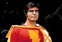 "Jackson Bostwick as Captain Marvel in the Saturday morning live-action TV series ""Shazam!"", which ran on CBS from 1974 to 1977. Bostwick will be the featured guest at this year's Peterborough Comic Con on Sunday, September 23rd at the Evinrude Centre. (Publicity photo)"