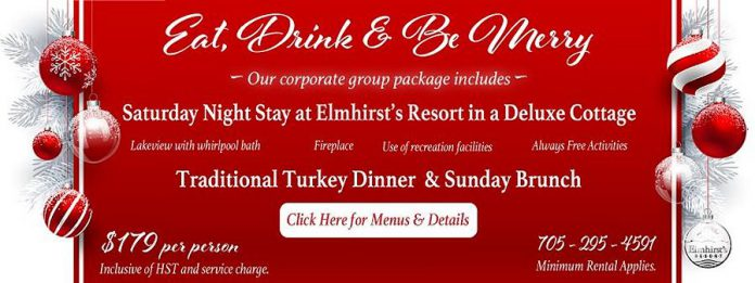 Elmhirst's Resort 'Eat, Drink and Be Merry' corporate group package