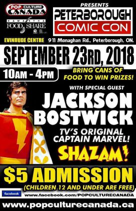 Peterborough Comic Con takes place on Sunday, September 23, 2018 at the Evinrude Centre in Peterborough.