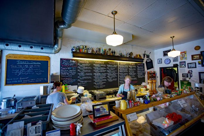 Sam's Deli is one of many restaurants and cafes located in the Hunter St. Cafe District in downtown Peterborough.