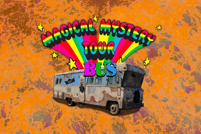 The Players' Magical Mystery Tour Bus arrives in Peterborough at the Gordon Best Theatre on Friday, September 28, 2018. Tickets are $15, with proceeds going to charity. (Graphic: Players)