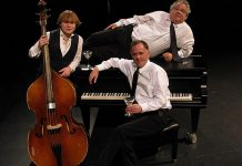 Almost 10 years ago, The Three Martinis (Jimmy Bowskill, Rob Phillips, and Dan Fewings) began delivering a unique musical improv comedy experience to Peterborough audiences. The three musicians will reunite for a special 10th anniversary Halloween-themed performance at The Mount Community Centre in Peterborough on October 26, 2018. (Supplied photo)