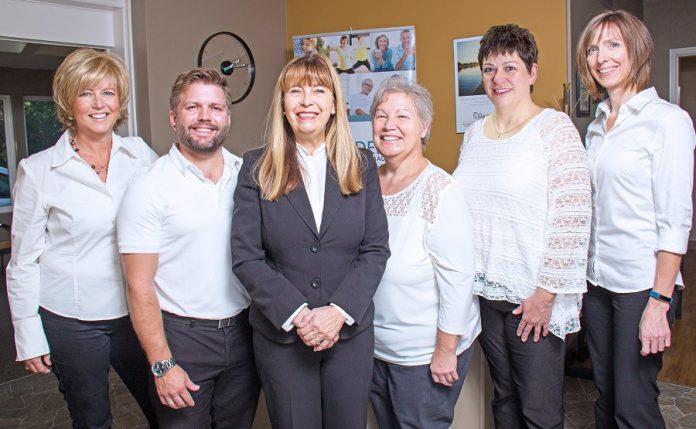 The Ear Depot team: Linda Goodman, Matt Paige, owner Brenda Cowan, Donna LeMaitre, Cindy Handke, and Brenda Telford. (Supplied photo)