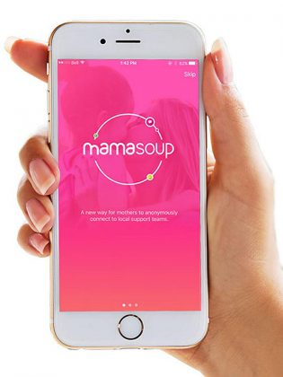 The Mamasoup app is available for free for both for iOS and Android devices. Moms can ask other moms questions, find local resources, and meet new mom-friends from the comfort of their smartphone. (Supplied photo)