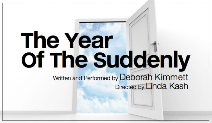 """Deborah Kimmett will perform """"The Year of the Suddenly"""" at the Market Hall Performing Arts Centre in downtown Peterborough on Sunday, September 23, 2018. (Poster: New Stages)"""