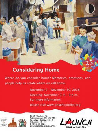 The Art School of Peterborough presents 'Considering Home'