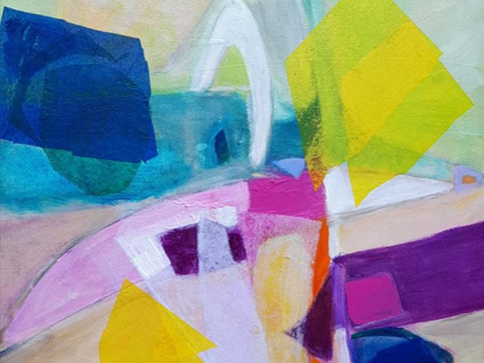 "A detail from 'Curiosity Satisfied' by Barbara Reeves, one of the works on display until October 21st at the Kawartha Artists' Gallery and Studio as part of the ""Driven to Abstraction"" members' group show. (Photo courtesy of Kawartha Artists' Gallery and Studio)"