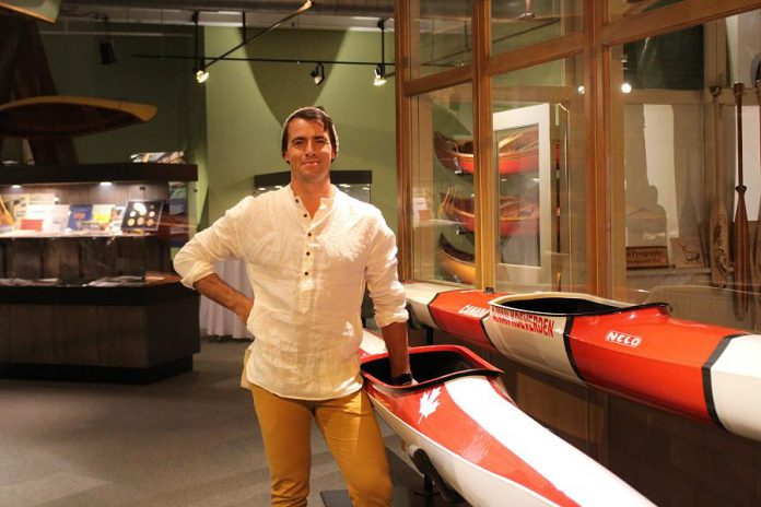 Adam van Koeverden was the guest host for the 11th annual Beaver Club Gala, held at The Canadian Canoe Museum on October 13, 2018. He is a three-time Olympian winning gold in the K-500 and silver in the K-1 1000 in Athens in 2004, silver in the K-1 500 in Beijing in 2008, and silver again in the K-11000 in London in 2012; and two-time World Champion in K-1 500 in 2007 and K-1 1000 in 2011. Since retiring from competition, Adam has lent his support to Right to Play, WaterAid, Bell's Let's Talk Program, the David Suzuki Foundation as well as being National Spokesperson for Colon Cancer Canada. (Photo:  The Canadian Canoe Museum)
