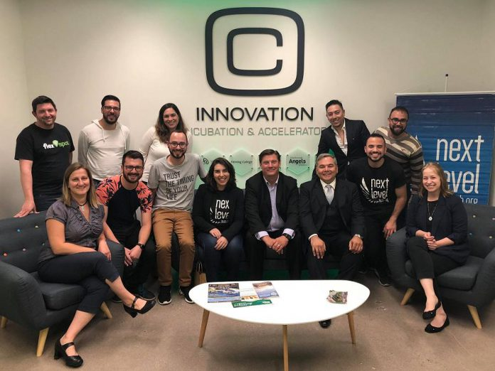 Representatives and clients of the Innovation Cluster and the Brazil-Canada Chamber of Commerce. (Photo courtesy of Innovation Cluster)