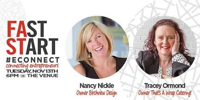 FastStart Peterborough's E-Connect features Nancy Nickle and Tracey Ormond in Peterborough on November 13
