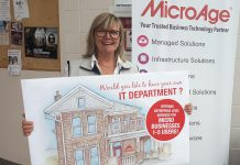 Amy Simpson, owner of information technology solutions firm MicroAge Peterborough (which is celebrating 35 years in business), launched a new offering for micro-businesses at the Peterborough Chamber of Commerce's Love Local Trade Show on October 3, 2018. (Supplied photo)