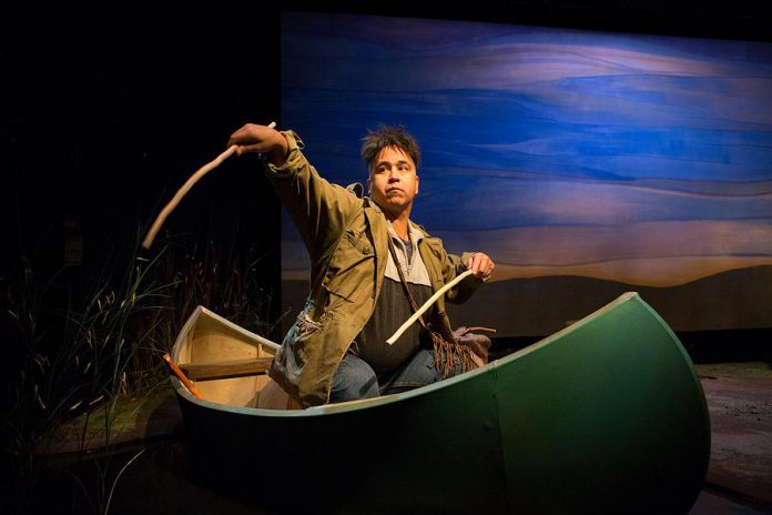 "Herbie Barnes reprises his role as Arthur Copper from the original Tarragon Theatre production of ""Cottagers and Indians"". The character is based on James Whetung of Curve Lake First Nation.  (Photo: Cylla von Tiedemann)"
