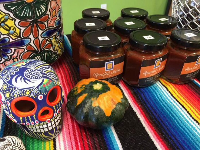 In addition to tortillas, Mercado La Hacienda offers a variety of spices, sauces, and artisan goods. (Photo: Eva Fisher / kawarthaNOW.com)