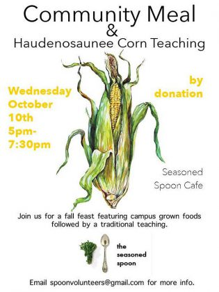 The Seasoned Spoon's upcoming community meal will feature flint corn, a traditional variety of corn that was historically eaten in local Indigenous communities.