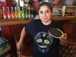 Sandra Arciniega, owner of La Hacienda Mexican Restaurant, has opened the Mexican marketplace Mercado La Hacienda, which features fresh gluten-free tortillas made with innovative and beautiful ingredients. (Photo: Eva Fisher / kawarthaNOW.com)