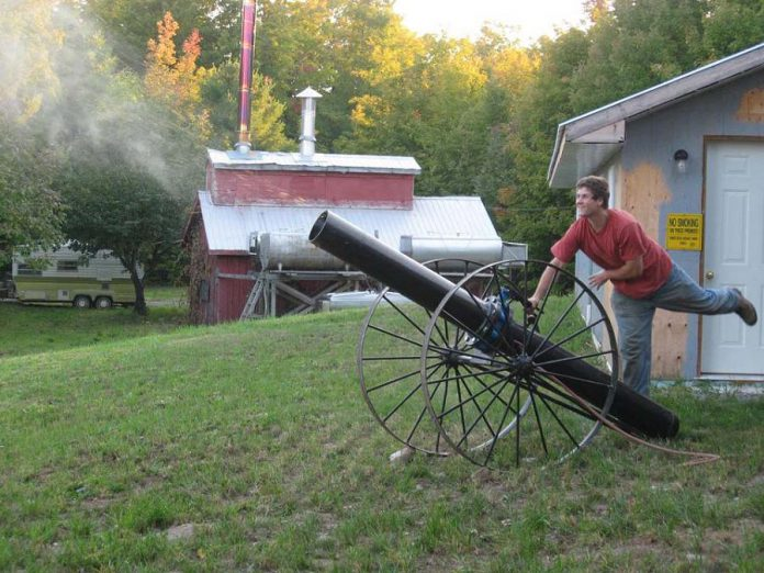 The pumpkin cannon at McLean Pumpkinfest, which runs every weekend until October 28th. (Photo: McLean Berry Farm)