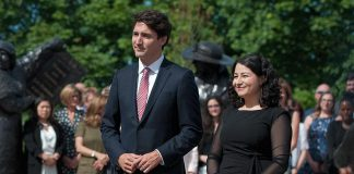 Minister of Status of Women Maryam Monsef with Prime Minister Justin Trudeau during the 2017 announcement of the Women Deliver Conference, to be held in 2019 in Vancouver. The Peterborough-Kawartha MP sat down with kawarthaNOW's Paul Rellinger on October 12, 2018 for a chat on a range of issues. (Photo: Women Deliver)