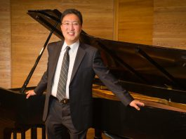 """Award-winning Canadian pianist Michael Kim will perform Rachmaninov's Piano Concerto no. 2 with the Peterborough Symphony Orchestra at """"Romantik"""", the premiere concert of the 2018-19 season at Showplace Performance Centre in Peterborough on November 3, 2018. (Photo: Ken Frazier)"""
