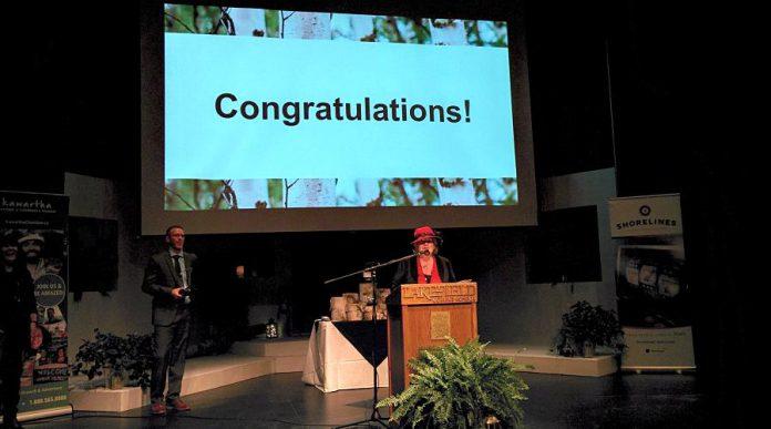 Audrey Von Bogen won the special Lifetime Achievement Award. (Photo: Bruce Head / kawarthaNOW.com)