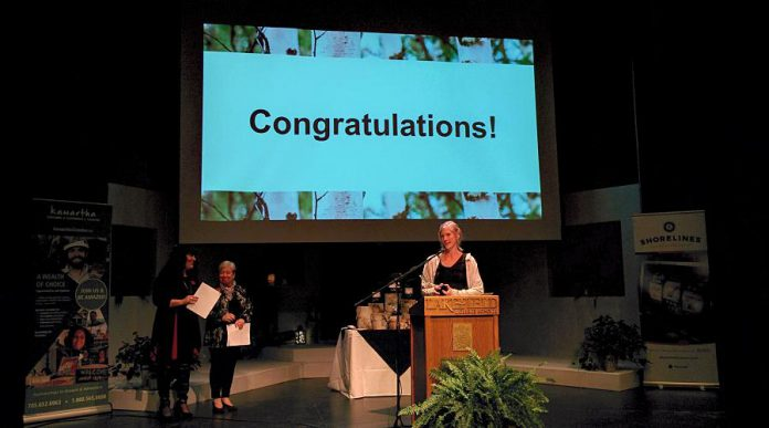 Emily Wilkins of Adventure Outfitters won the Young Professional award. (Photo: Bruce Head / kawarthaNOW.com)