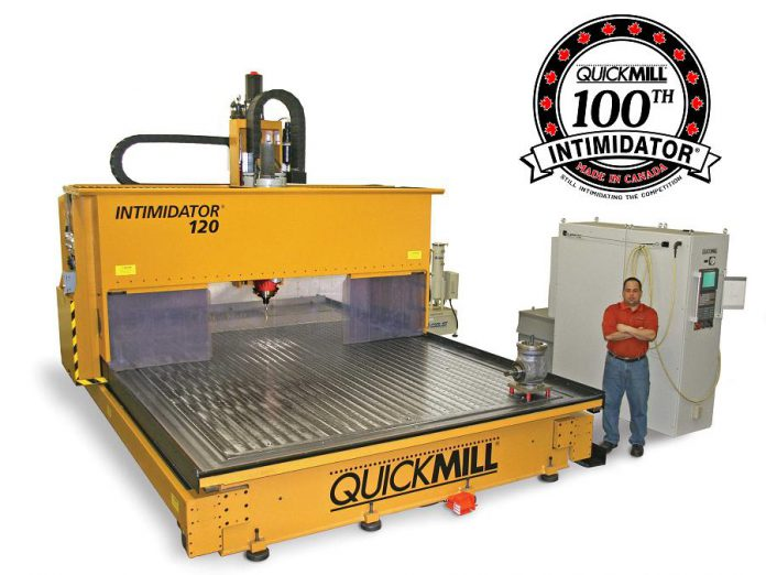 Quickmill has built and sold its 100th 'Intimidator' machine centre. (Photo courtesy of Quickmill)