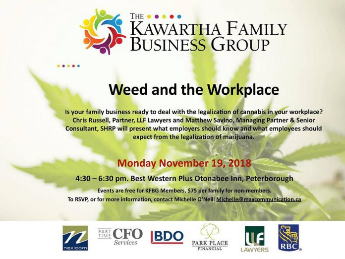 Kawartha Family Business Group cannabis and the workplace seminar