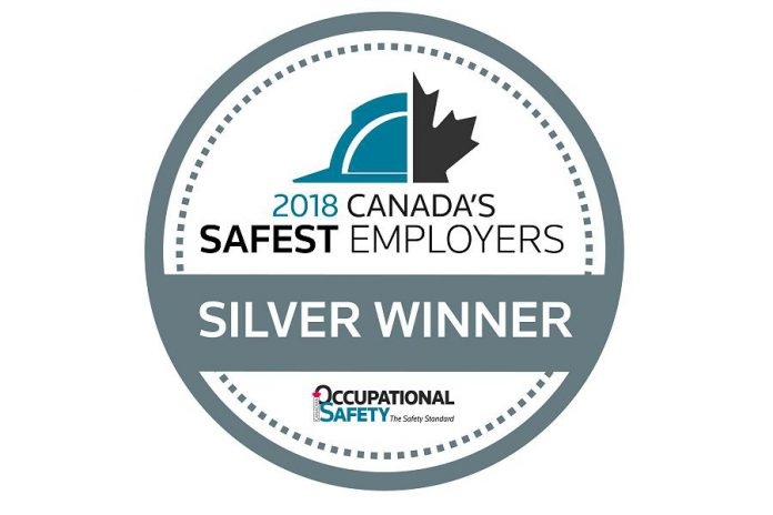Canadian Occupational Safety Silver Award